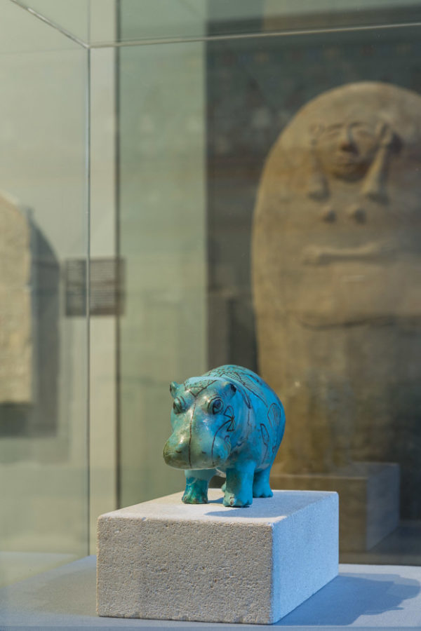 Blue Faience Hippopotamus from Kunsthistorisches Museum