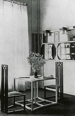 Reception area of the Flöge salon Klimt emilie flöge gustav klimt