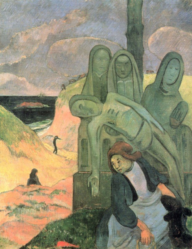 Paul Gauguin, The Green Christ, 1889, Royal Museums of Fine Arts of Belgium, yellow christ