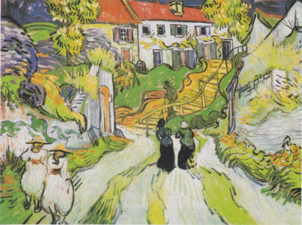 vincent van gogh death Vincent van Gogh, Village street and stairs in Auvers with figures, May 1890 The Saint Louis Art Museum, Van Gogh's Death