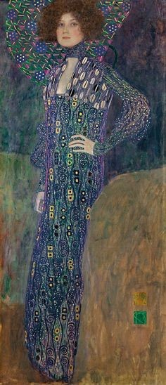 Gustav Klimt, Emilie Flöge 1902, oil on canvas, Wien Museum, Vienna gustav klimt emilie flöge
