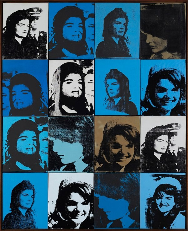Andy Warhol, Sixteen Jackies, 1964. Private Collection, New York., © The Andy Warhol Foundation for the Visual Arts, Inc.