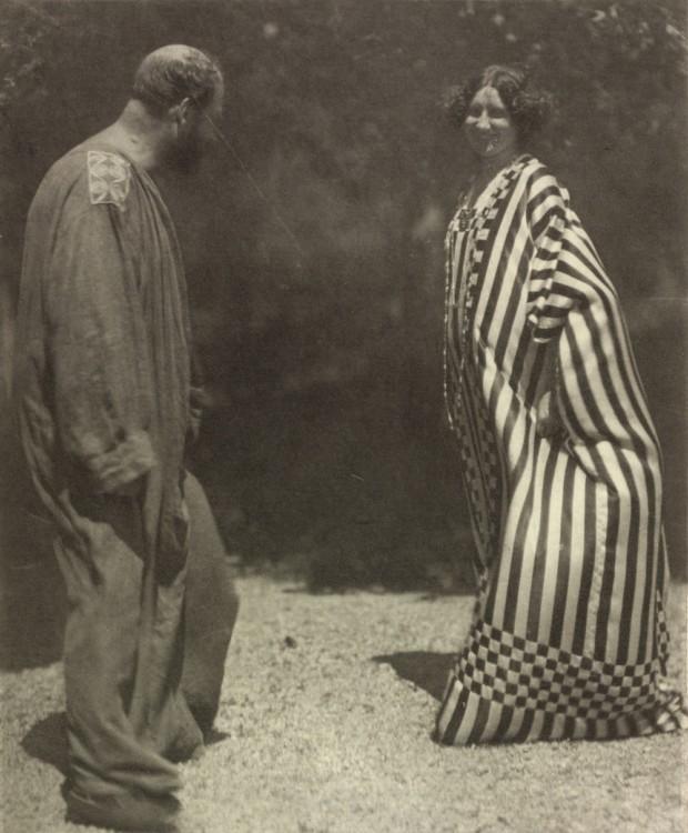 Gustav Klimt and Emilie Flöge together