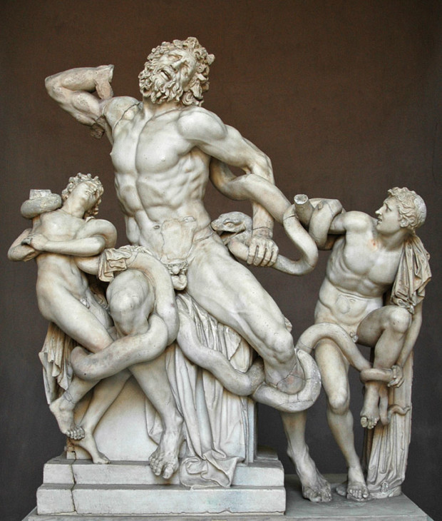 The Laocoon group, marble. perhaps 1st century CE, The Vatican Museums