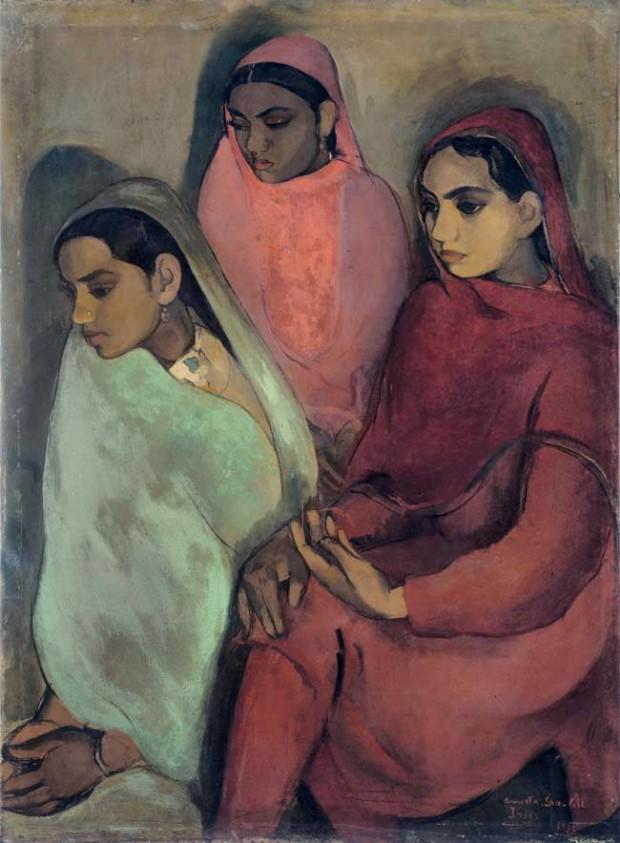 Amrita Sher-Gil, Three Girls, 1935, NGMA Mumbai