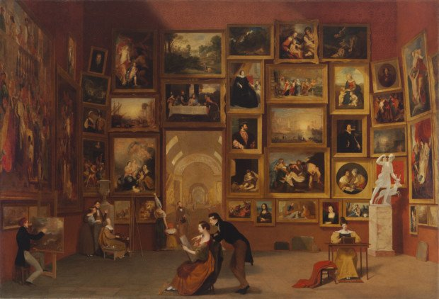 Samuel F.B. Morse, Gallery of the Louvre, 1831-33, Terra Foundation for American Art, now on show in The New Britain Museum of American Art Morse Gallery Louvre