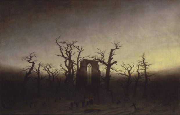 Caspar David Friedrich, The Abbey in the Oakwood, 1808–10, Alte Nationalgalerie, Berlin Caspar David Friedrich Works