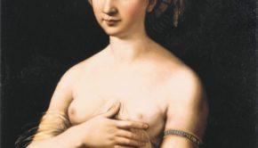 Raphael, La Fornarina, 1518-20, Galleria Nazionale d'Arte Antica