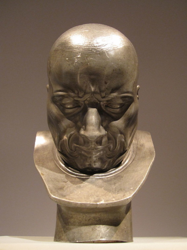 """""""A Hypocrite and a Slanderer,"""" on display at the Met in 2010. (Photo: Gryffindor/CC BY-SA 3.0) Franz Xaver Messerschmidt"""