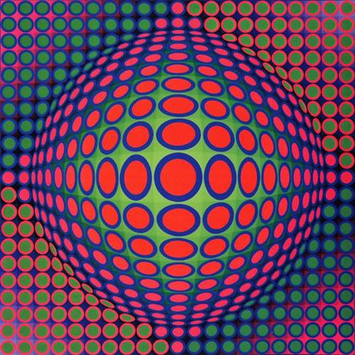 Victor Vasarely, Vega 200, 1968, Source: Wikimedia op art
