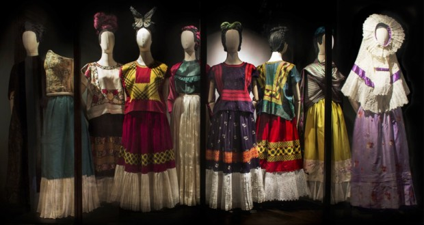 A selection of native Tehuana looks on view at the Museo Frida Kahlo exhibition. Photo by Miguel Tovar. Frida Kahlo Clothing