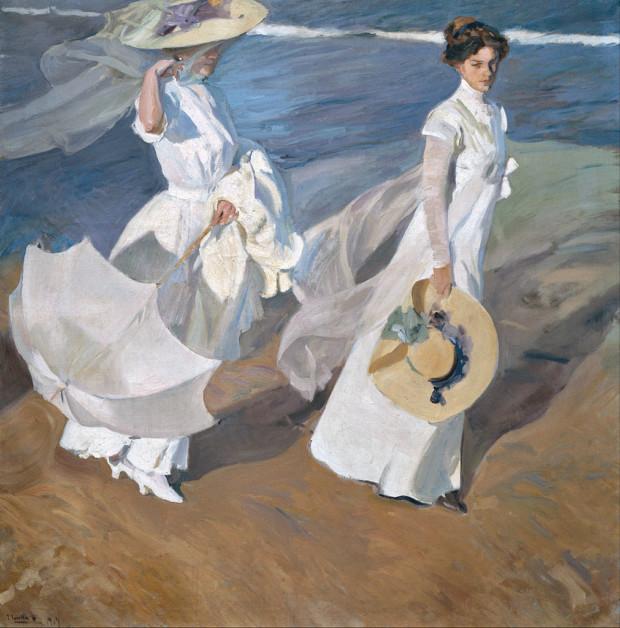 Joaquin Sorolla, Strolling Along The Seashore, 1909, Sorolla Museum, Madrid Joaquin Sorolla Strolling Along Seashore