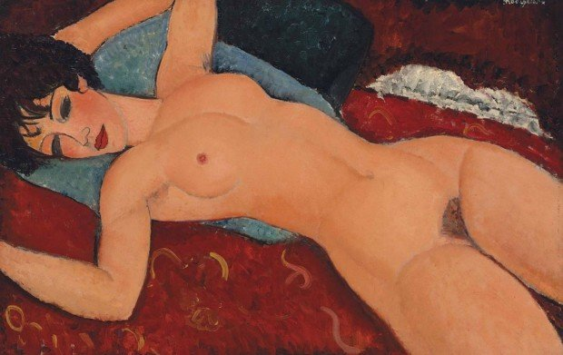 Amedeo Modigliani, Nu couché, 1917-18, Private collection nudes modigliani nudes