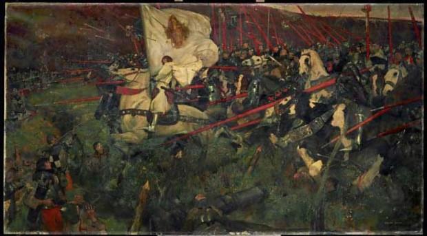"""joan arc culture Franck Craig 1874 – 1918 """"La Pucelle ! """"Jeanne d'Arc à la tête de son armée 1914, Musee d'Orsay, Paris"""