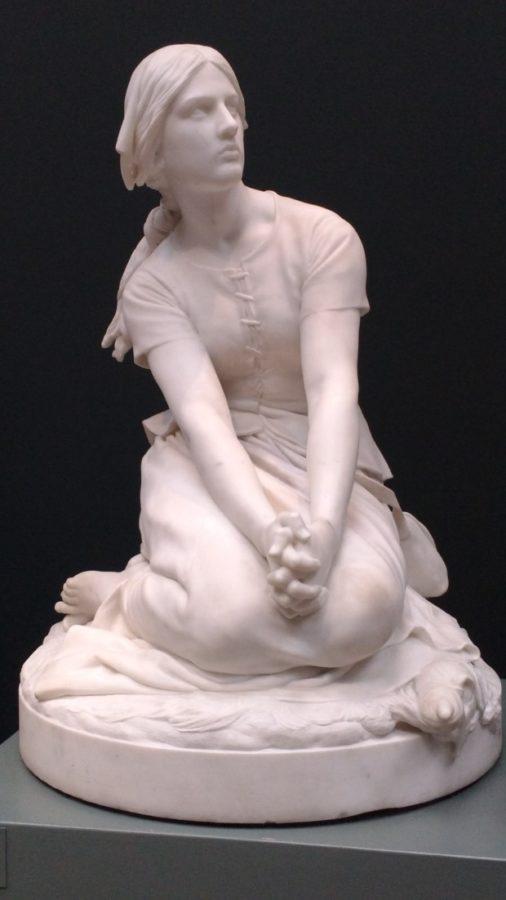 joan arc culture Henri-Michel-Antoine Chapu: Joan of Arc in Domremy, listening to heavenly voices (1886-87), NY Carlsberg Glyptotek in Copenhagen