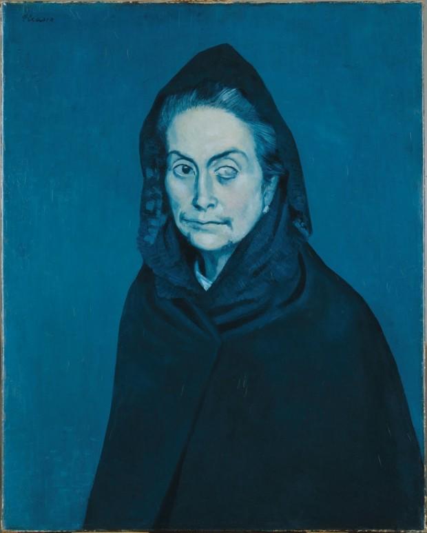 Pablo Picasso, La Celestine (Women with a cataract), 1904, private collection Picasso Blue Period