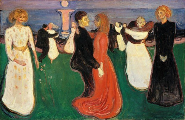 Edvard Munch, The Dance of Life, 1899-1900, National Gallery, Oslo Red Dresses Art