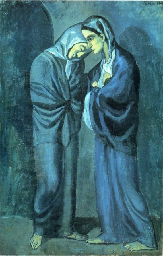 Pablo PIcasso, The Two Sisters, 1902, Hermitage Museum, St Petersburg Picasso Blue Period