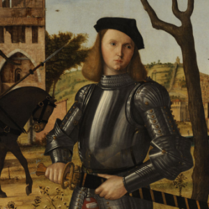 Vittore Carpaccio, Young Knight Landscape