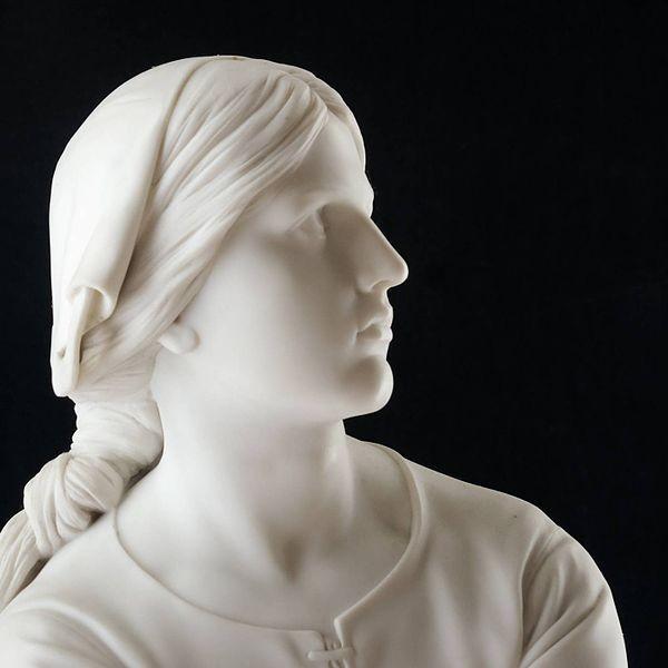 joan arc culture Henri-Michel-Antoine Chapu: Joan of Arc in Domremy, listening to heavenly voices (1886-87), NY Carlsberg Glyptotek in Copenhagen, detail