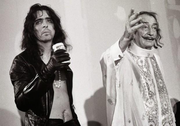 Salvador Dali weird Salvador Dali and Alice Cooper