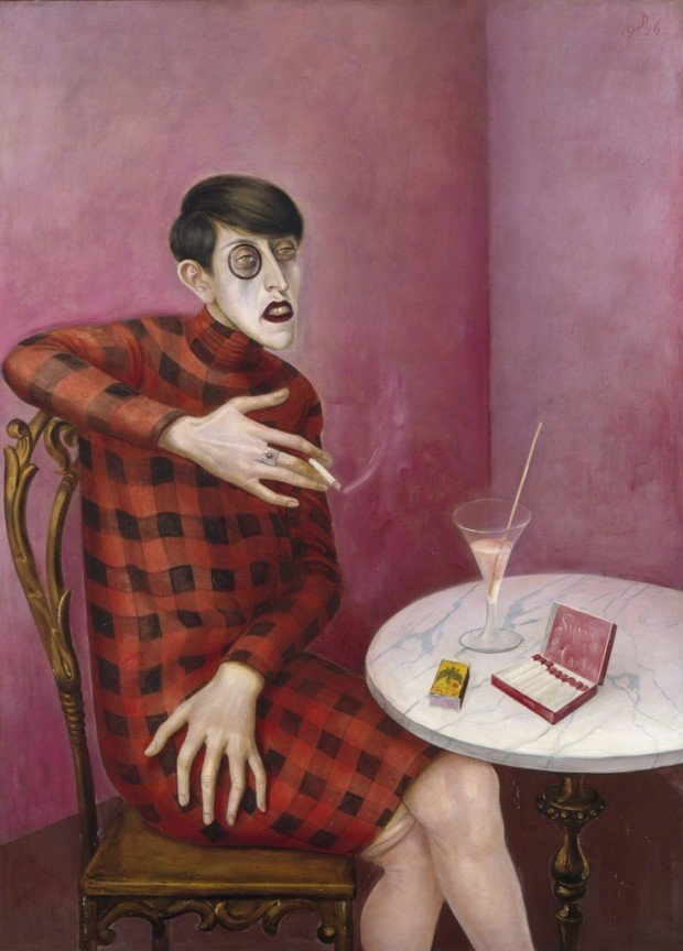 Otto Dix, Portrait of the Journalist Sylvia von Harden, 1926, Musée National d'Art Moderne, Centre Georges Pompidou, Paris Red Dresses Art