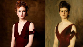 nicole-kidman-by-steven-meisel-as-mrs-charles-e-inches-by-john-singer-sargent