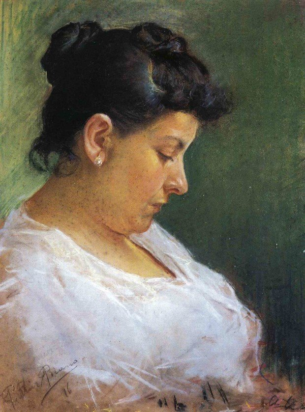 Pablo Picasso, Portrait of Artist's Mother, 1896, Museu Pablo Picasso, Barcelona early picasso