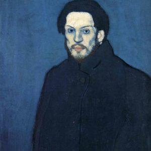 Self Portrait, Paris Late 1901; Musee Picasso, Paris(Blue Period)