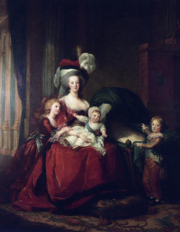 Élisabeth Louise Vigée-LeBrun, Portrait of Marie Antoinette with Her Children, 1787, Musée National du Château de Versailles Portraits Marie Antoinette