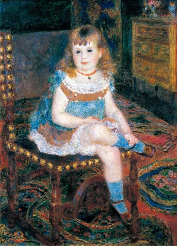 Tokyo Paris Orangerie Pierre-Auguste Renoir, Mademoiselle Georgette Charpentier sitting, 1876, Tokyo, Bridgestone Museum of Art, © Bridgestone Museum of Art, Ishibashi Foundation