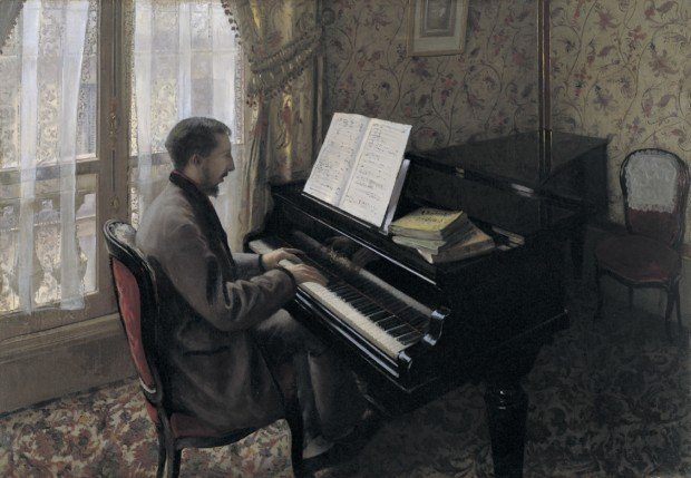 Tokyo Paris Orangerie Gustave Caillebotte, Young man at the piano, 1876, Tokyo, Bridgestone Museum of Art, © Bridgestone Museum of Art, Ishibashi Foundation