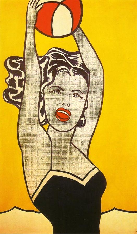 58 1961 LICHTENSTEIN Girl with Ball lichtenstein's art