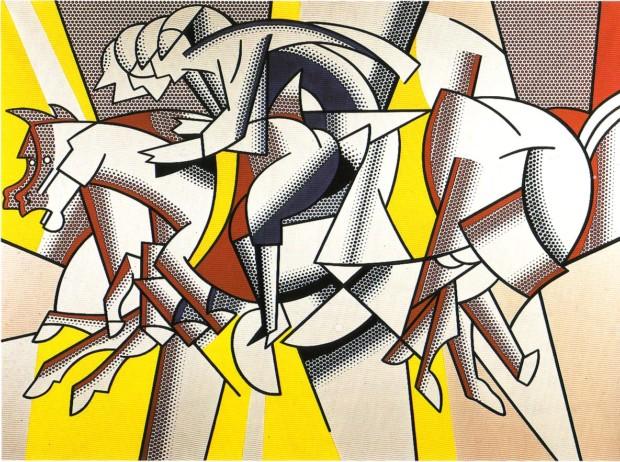 1974 LICHTENSTEIN Red Horseman, lichtenstein's art
