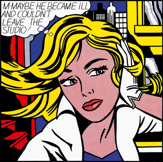 Museum Ludwig Pop Art Roy Lichtenstein M-Maybe (A Girl's Picture), 1965