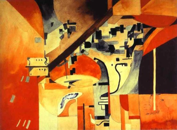 paintings New York Francis Picabia, New York as Seen from Across the Body, 1913,