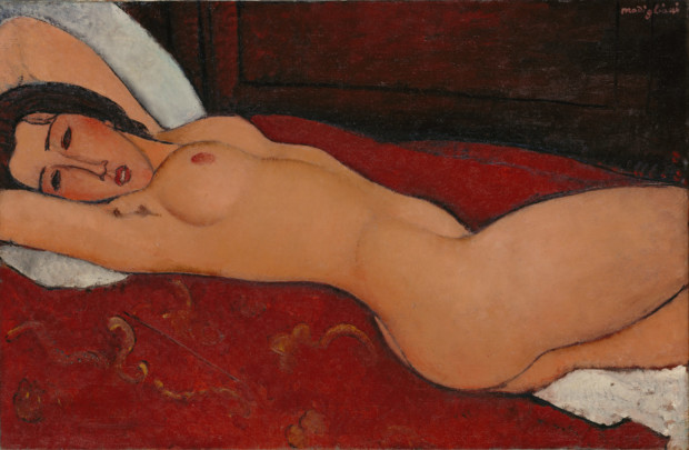 Reclining nude Amedeo Modigliani, Reclining Nude, 1917