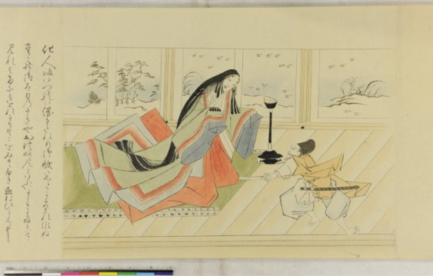 spiders in art Tsuchigumo emaki 土蜘蛛絵巻 (Earth Spider Picture Scroll), Second-generation copy of the handscroll painting, Tosa Nagataka, 1826, Tokyo National Museum