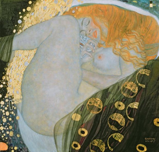 Gustav Klimt, Danae (1907) Galerie Würthle