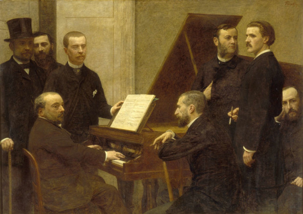 wagnerism in art Henri Fantin-Latour. Around the Piano (1885). Musee d'Orsay.