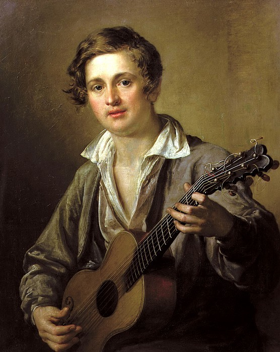 Guitarists in Art Vassily Andreevich Tropinin (1776-1857). The Guitar Player (1823). The State Tretyakov Gallery, Moscow.
