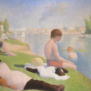 Georges Seurat; Bathers at Asnieres, (1884), © National Gallery, London