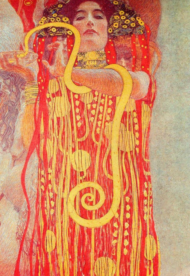 University of Vienna Ceiling Paintings (Medicine), detail showing Hygieia, 1900 - 1907 (destroyed during II World War)