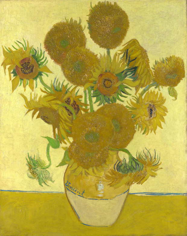 """Van Gogh Sunflowers live Van Gogh's """"Sunflowers"""" (1888), at the National Gallery in London. Credit National Gallery, London"""