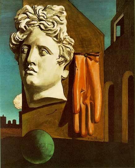 The Song of Love, Giorgio de Chirico, 1914, Museum of Modern Art, Chirico's surrealistic eyes