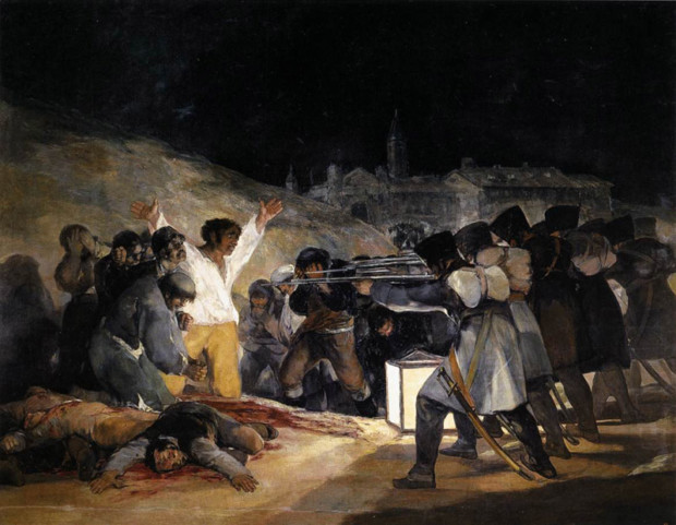francisco goya paintings francisco goya modernist Francisco de Goya The Third of May, 1808: The Execution of the Defenders of Madrid 1814 Museo del Prado, Madrid