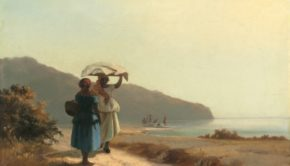 Camille Pissarro, Two Women Chatting by the Sea, St. Thomas, 1856, private collection