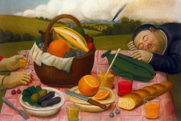 Fernando Botero, Picnic, 1989, Private collection, picnic inspirations from art