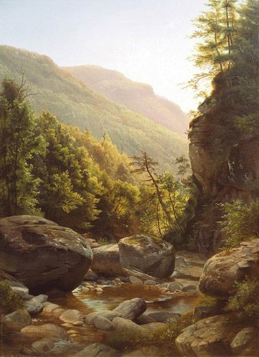 hudson river school female painters Harriet Cany Peale; Kaaterskill Clove; 1858; private collection
