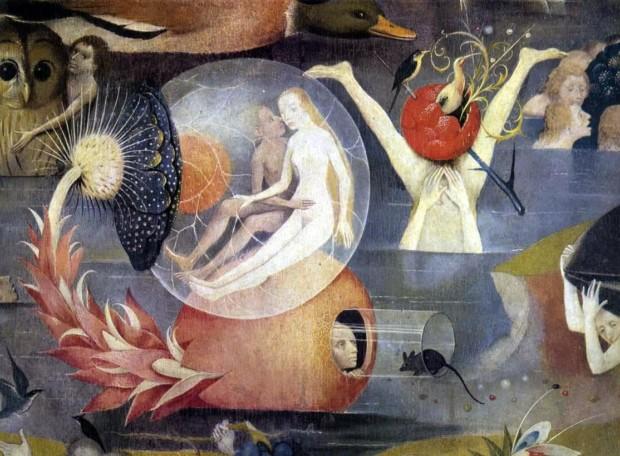 Hieronymus Bosch, The Garden of Earthly Delights, Museo Nacional del Prado, detail